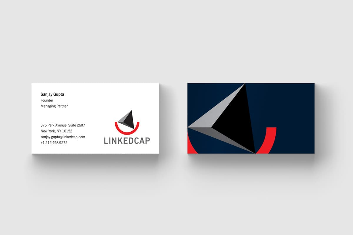 LinkedCap Business Cards Design
